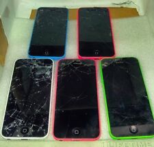 Lot of 5 Apple iPhone 5C AS IS - Power Up/Charges - See Pictures And Description