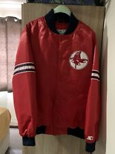 Rare MLB Boston Red Sox Satin Starter Bomber Jacket Size Large
