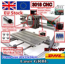 【UK·EU】 3 Axis DIY 3018 CNC Router Engraver Milling Laser Machine & ER11 collet