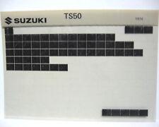 Suzuki TS50 1971 - 1974 Parts Microfiche s121