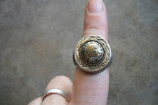 vintage 1920 Persion silver ring flapper ornate flapper exotic 6