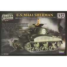 87013 Forces of valor Unimax 1:72 Escala U.S. M4A1 Sherman Nuevo Kit plástico modelo