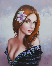 Original Oil Painting - Female Portrait | Fantasy by Timar