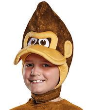 Donkey Kong Brown Ape Gorilla Monkey Childs Costume Headpiece