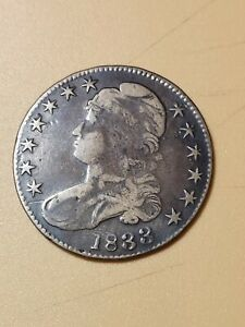 1833 Brass Contemporary Example Bust Half Dollar