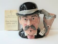 """Royal Doulton 'Doc Holliday' D6731 1985 Toby Character Jug 5.5"""" Wild West Mint"""