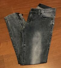 Rock Republic Distressed Jeans Women Size 4 Skinny Zippered Ankle Cropped