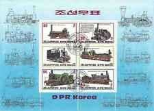 Timbres Trains Corée BF147 o réf. Michel lot 13759