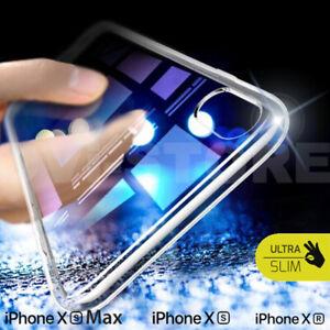 COVER CUSTODIA PER IPHONE XR XS MAX 7 8 11 12 TPU SILICONE ESSENTIAL SLIM Vetro