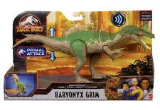 JURASSIC WORLD PARK Camp Cretaceous BARYONYX GRIM Primal Attack Dinosaur SOUND!!