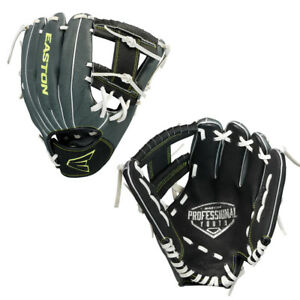 "Easton Professional Series 10"" Youth Baseball Glove Black/Grey A130 840"