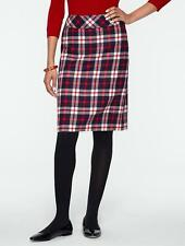 TALBOTS Red White Blue Indy Plaid A-Line Skirt 16W NWT Womans (MSRP $109)