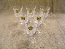 CRISTAL D'ARQUES TAILLE' CRYSTAL CORDIAL STEMMED GLASSES - SET OF 6