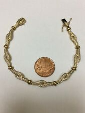 Stunning 9 Carat Yellow Gold DIAMOND SET TENNIS BRACELET