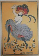"""""""LE FROU FROU"""" Affiche entoilée réédition offset années 70 CAPPIELLO 49x69cm"""