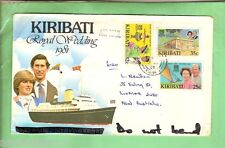 #D32. KIRIBATI 1981 ROYAL WEDDING STAMP COVER - LADY DIANA & CHARLES