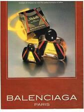 PUBLICITE ADVERTISING   1982    BALENCIAGA  parfum eau de toilette MICHELLE