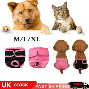 Physiological Pants for Female Dogs Pet Cat Dog Sanitary Nappy Diaper Underwear