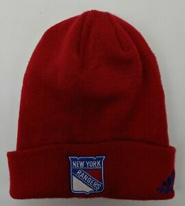 Adidas New York Rangers Hockey Cuff Knit Beanie One Size Fits Most Red NWOT