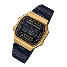 CASIO UNISEX A168WEGB-1B VINTAGE BLACK BAND WATCH
