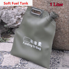 5L Portable Fuel Tank Gasoline Oil Storage Bucket Can Soft Oil Bag Petrol Cans