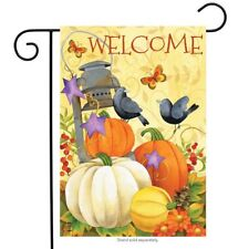 "Lantern And Pumpkins Autumn Garden Flag Welcome Primitive Fall 12.5"" x 18"""