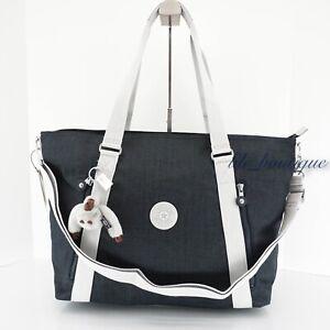 NWT Kipling KI1060 Skyler Shoulder Bag Tote Handbag Purse Polyester Blue Modern