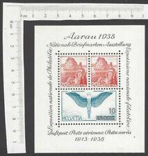 Switzerland #242 1938 National Philatelic Exhibition miniature sheet MS MNH