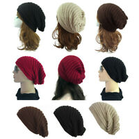 Women Fashion Cable Knit Wool Winter Warm Hat Soft Slouchy Beanie Cap Unisex hat