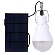 Portable Solar Panel Powered LED Bulb Light For Outdoor Camping Lights