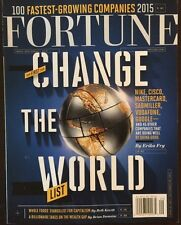 Fortune Change The World List Fast Growing Companies Sept 2015 FREE SHIPPING