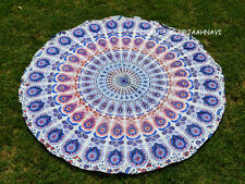 "Beautiful Indian Mandala 72"" Round Tapestry Hippie Yoga Mat Towel Wall Hanging"