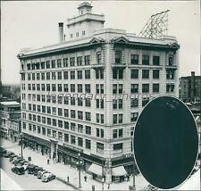 1935 Utah Oil Building Salt Lake City Original News Service Photo