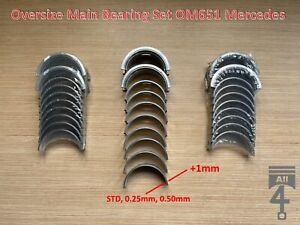 Oversize Main Bearing Set A6510330101 A6510331002 for 2.1 CDI OM651 Mercedes
