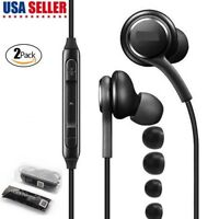 2 Pairs For Samsung Galaxy S8 S9 Plus Note 8 EarBuds Headphones Headset EO-IG955