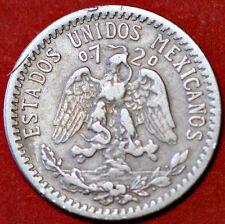 1937 Mexico 20 Centavos KM# 438 Silver Coin