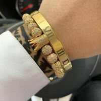 Luxury Roman Numeral Stainless Steel Couple Bracelet Lover Cuff Bangle Women Men