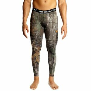 Mission Men's VaporActive Base Layer Tights, Real Tree, XX-Large