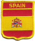 Spain State Flag Shield Embroidered Patch