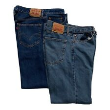 Levis Levi's 505 And 550 Relaxed Fit Denim Jeans Men Size 36x32