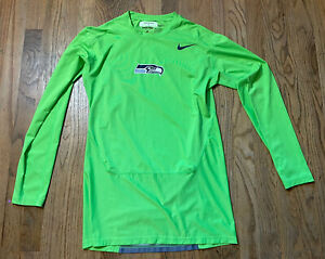 Player Worn Seattle Seahawks 57 Action Green Nike NFL Game Shirt Mike Morgan '16