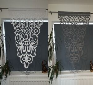 White Grey felt panel laser cut with cristal small window decoration Living Room