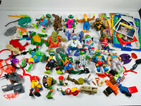 Lot (15+) Playmates TMNT Action Figure and Accessories Lot Cards weapons