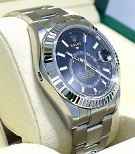 Rolex Sky-Dweller 326934 Steel Blue Dial Oyster Perpetual BOX/PAPERS *UNWORN*