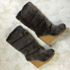 558e872bb042 Tory Burch KiKi Shearling Wedge Boots