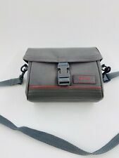 Vintage Grey Optex Camera Bag With Strap 5 Inches Tall