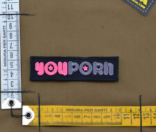 "Ricamata / Embroidered Patch ""You Porn"" with VELCRO® brand hook"
