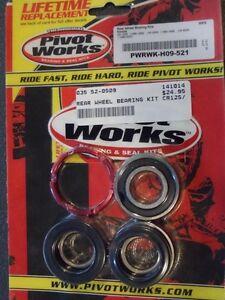 Rear Wheel Bearing Kit Aluminum Retainer Honda 1990-99 CR 125R/250R 90-01 CR500R
