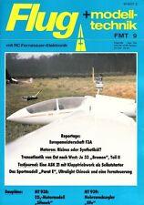 """FMT8609 Baupläne MT-938 Freiflugmodell SIFONEK und MT-939 """"ELFE"""" + FMT 9/1986"""