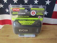 BRAND NEW RYOBI US 836-486 LITHIUM-ION 40V BATTERY W/ FUEL GAUGE